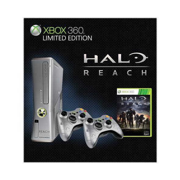 Xbox 360 Elite Slim Console (250GB) Halo Reach Premium Pack | 竜王 ...